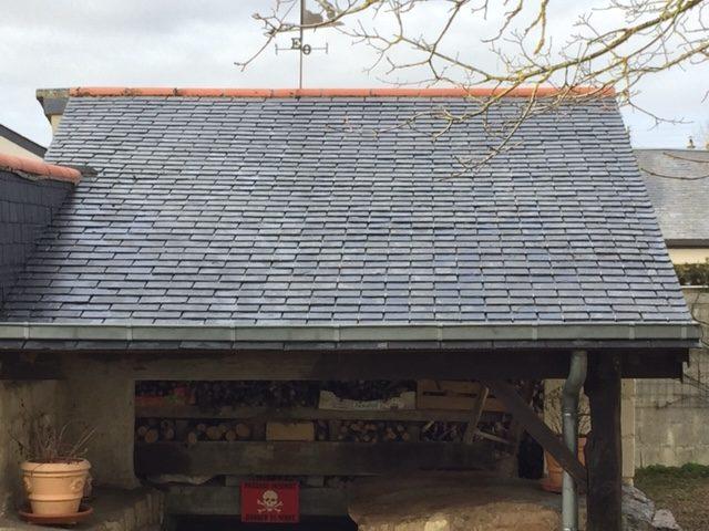 Après démoussage toiture